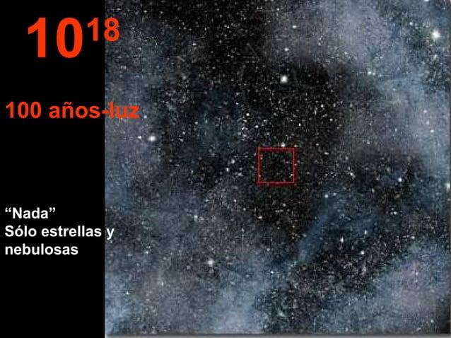 """""""Nada"""" Sólo estrellas y nebulosas 1018 100 años-luz"""
