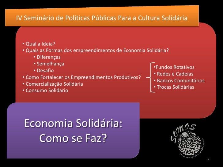 Economia Solidária Slide 2
