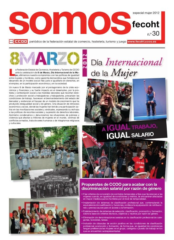 somos               periódico de la federación estatal de comercio, hostelería, turismo y juego www.fecoht.ccoo.es        ...
