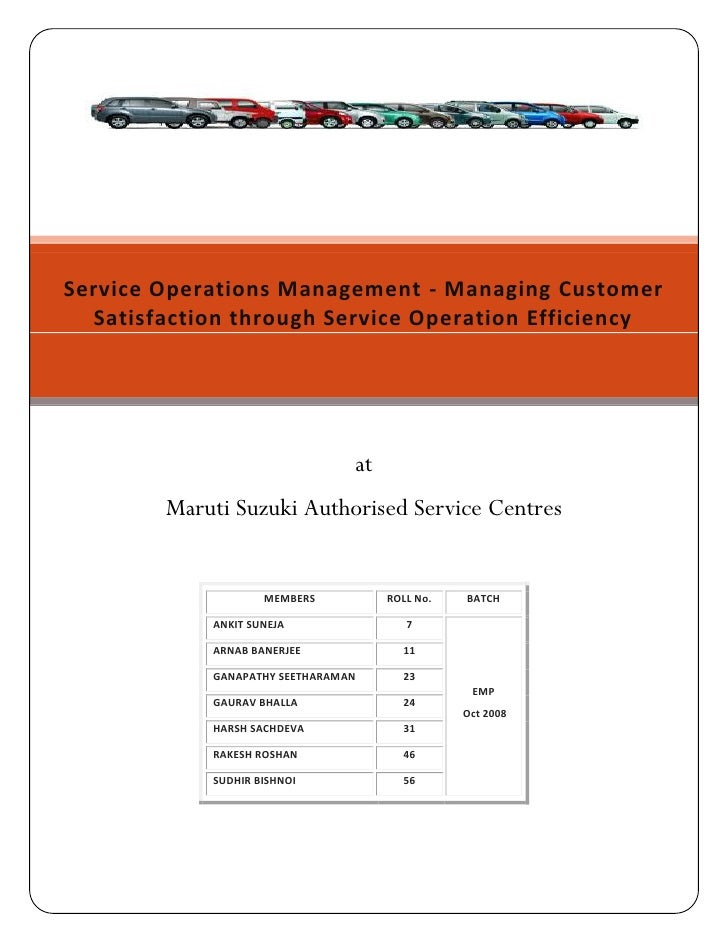 Service Operations Management - Managing Customer   Satisfaction through Service Operation Efficiency                     ...