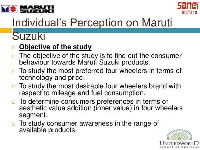 Consumer Perception Towards Maruti Suzuki