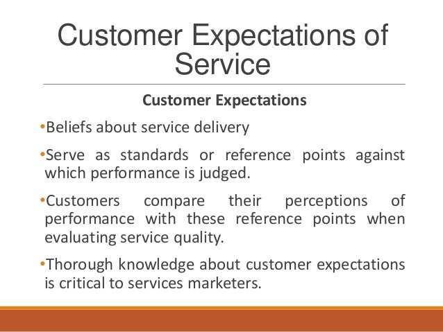 customer expectations and customer service