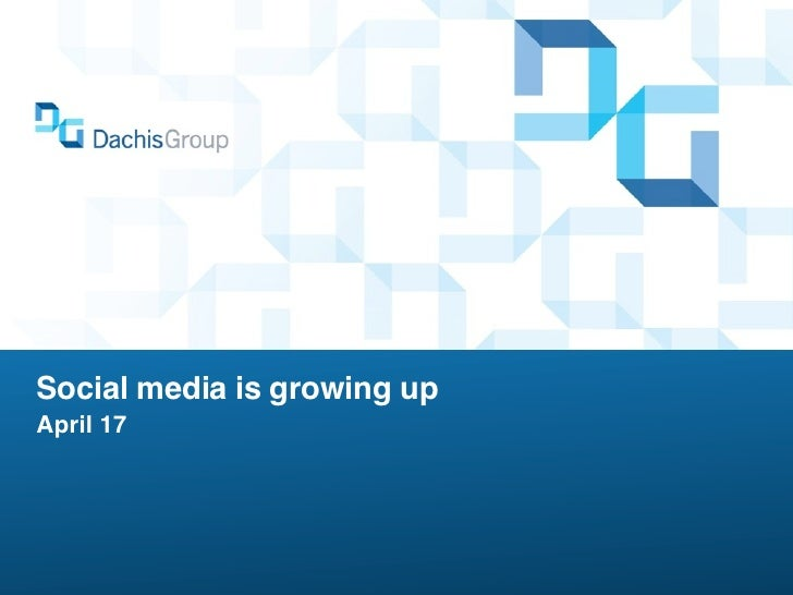 Social media is growing upApril 17