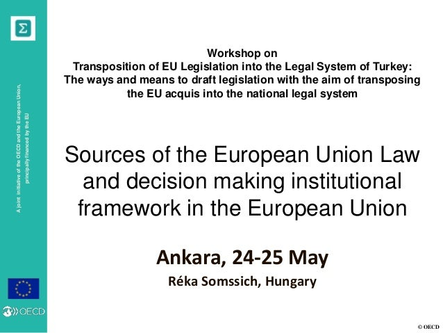 © OECD AjointinitiativeoftheOECDandtheEuropeanUnion, principallyfinancedbytheEU Workshop on Transposition of EU Legislatio...