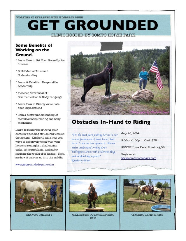 Some Benefits of Working on the Ground. * Learn How to Set Your Horse Up For Success * Build Mutual Trust and Understanding...