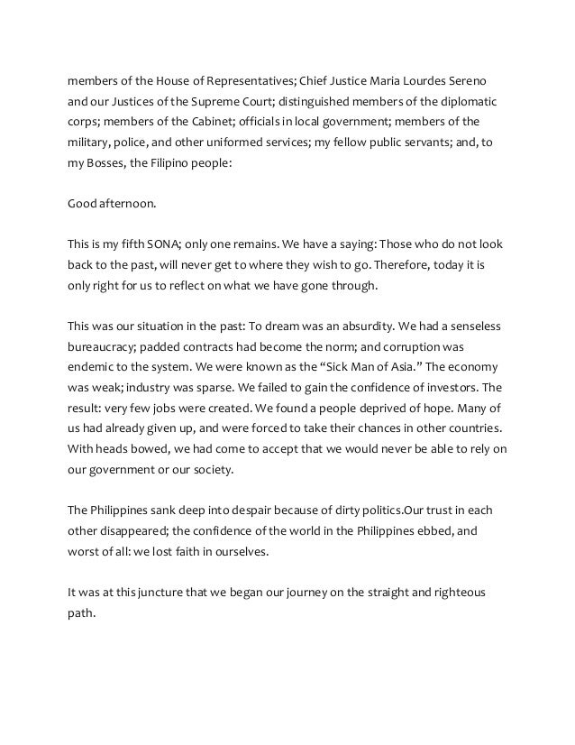 reaction paper about sona 2019 summary