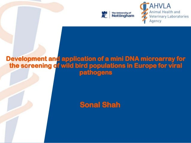 Development and application of a mini DNA microarray for the screening of wild bird populations in Europe for viral pathog...