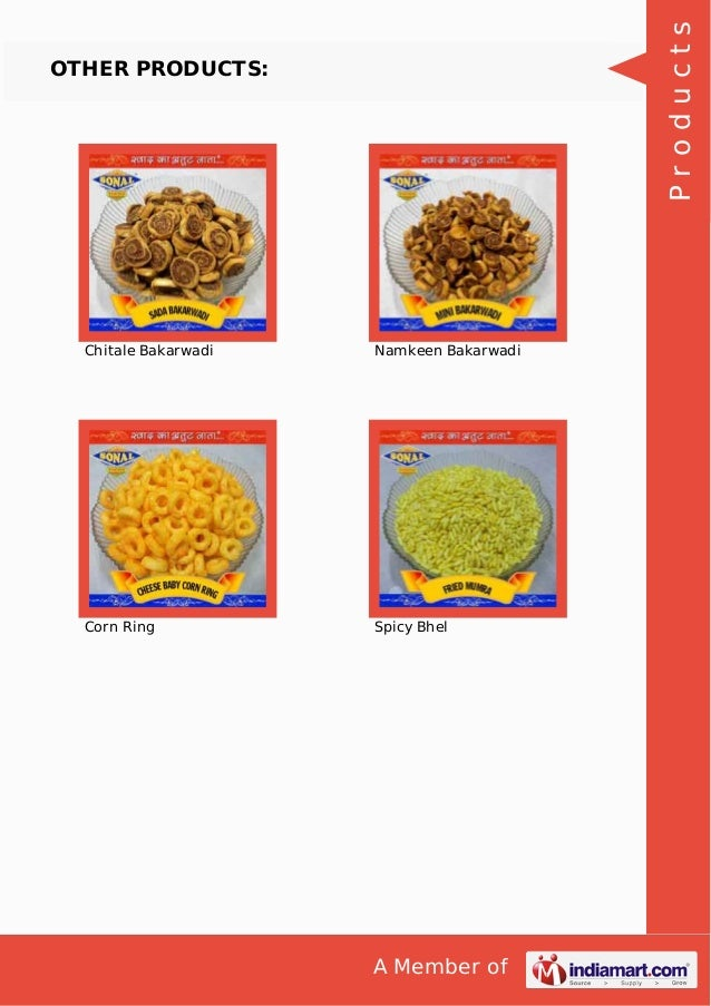 A Member of OTHER PRODUCTS: Chitale Bakarwadi Namkeen Bakarwadi Corn Ring Spicy Bhel Products