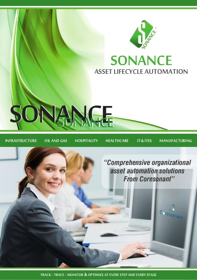 """Comprehensive organizational asset automation solutions From Coresonant"" SONANCESONANCESONANCESONANCE SONANCEASSETLIFECYC..."