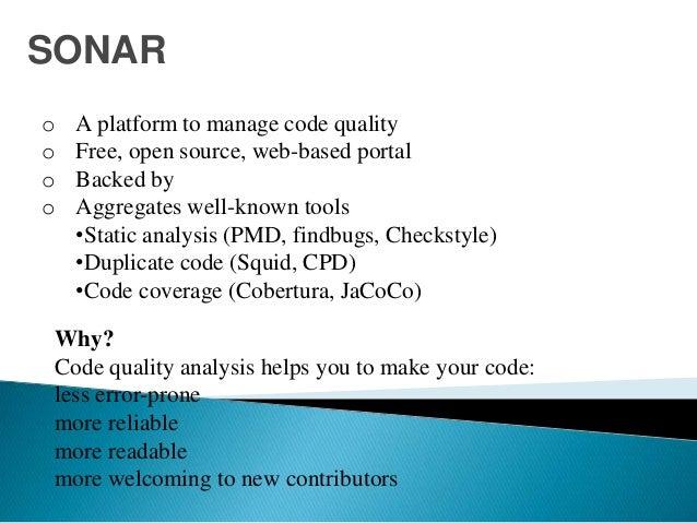 Sonar Tool - JAVA code analysis