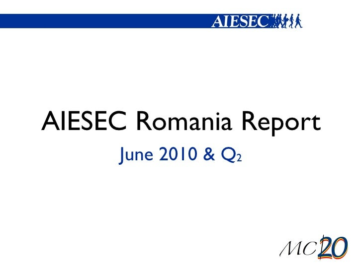 AIESEC Romania Report <ul><li>June 2010 & Q 2 </li></ul>