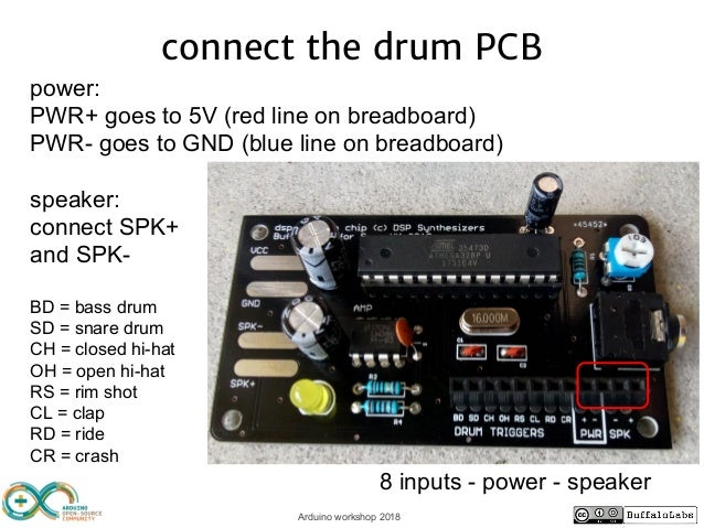 Arduino 8-step drum sequencer 3 channels