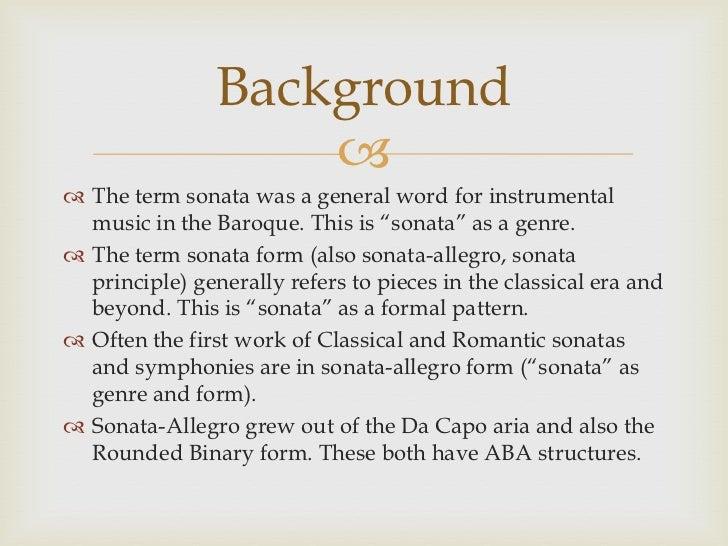 Sonata Allegro Presentation