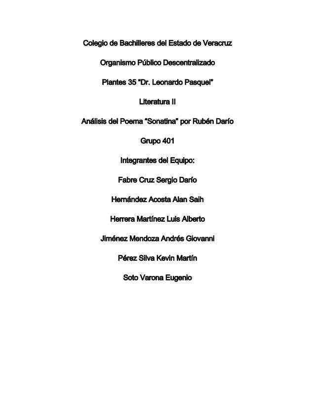 """Colegio de Bachilleres del Estado de Veracruz     Organismo Público Descentralizado      Plantes 35 """"Dr. Leonardo Pasquel""""..."""