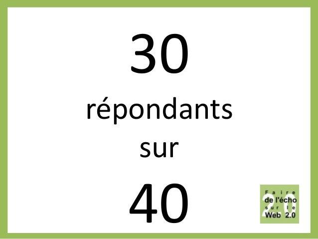 30 répondants sur 40