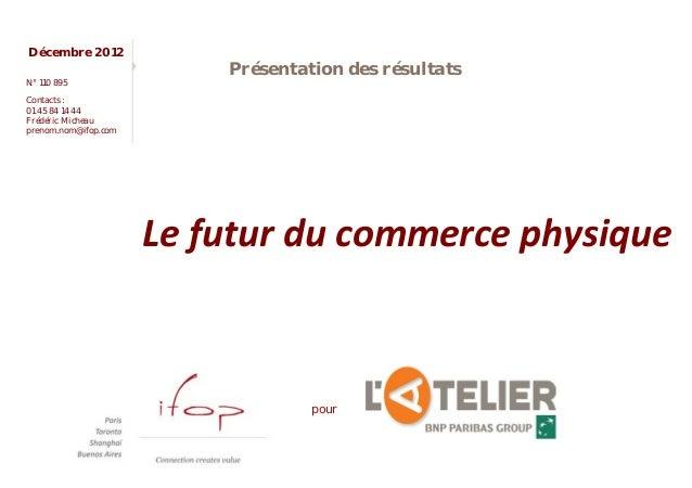 Décembre 2012                          Présentation des résultatsN° 110 895Contacts :01 45 84 14 44Frédéric Micheauprenom....