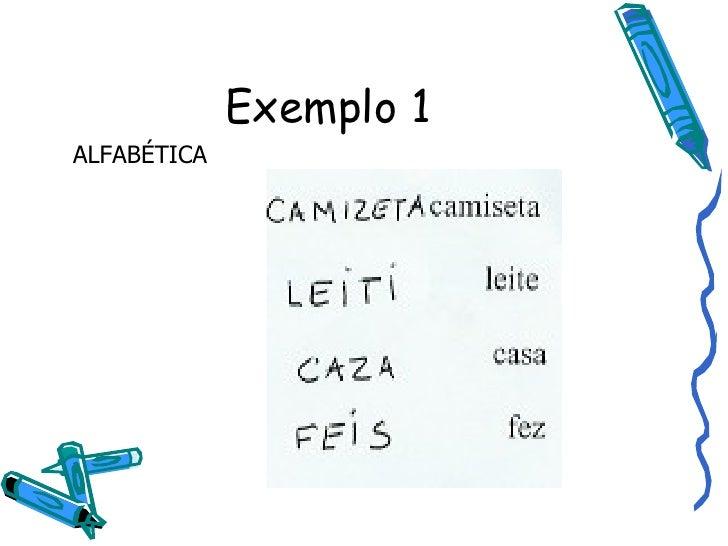 Exemplo 1 ALFABÉTICA