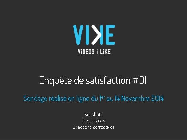 Question 1: Vous regardez ViKE.be essentiellement pour les contenus:  RESULTATS DU SONDAGE  •« Belgattitude » du site  •Le...