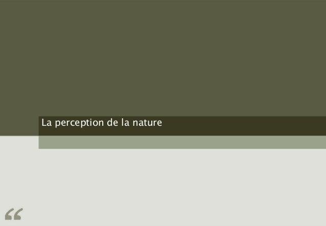 La perception de la nature