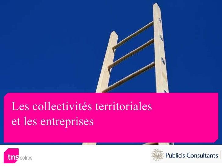 Les collectivités territoriales  et les entreprises