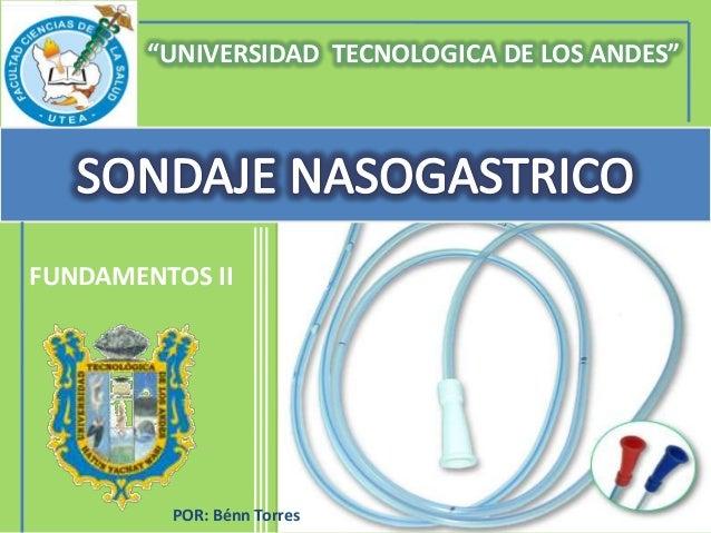 """""""UNIVERSIDAD TECNOLOGICA DE LOS ANDES""""FUNDAMENTOS II         POR: Bénn Torres"""