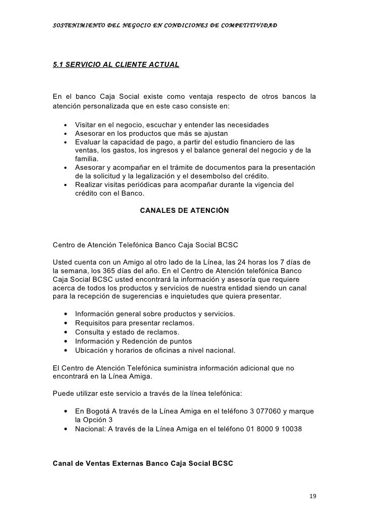 Horario oficinas banco caja social barranquilla creditorayse for La caja sucursales horarios