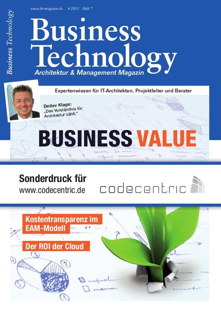 www.bt-magazin.de   4.2011 Heft 7                expertenwissen für it-architekten, projektleiter und Berater             ...