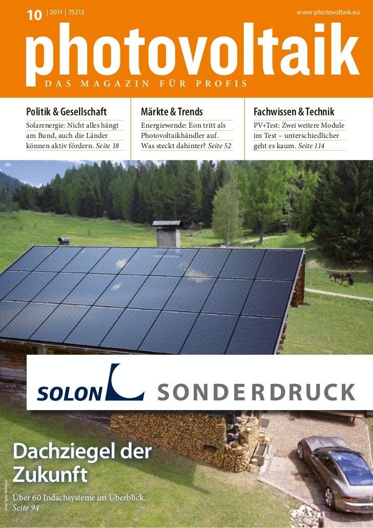 10 | 2011 | 75212                                                              www.photovoltaik.eu                        ...