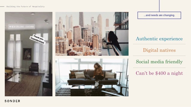 Independent hotels Big box chains Peer to peer Tech-enabled brand Building the Future of Hospitality