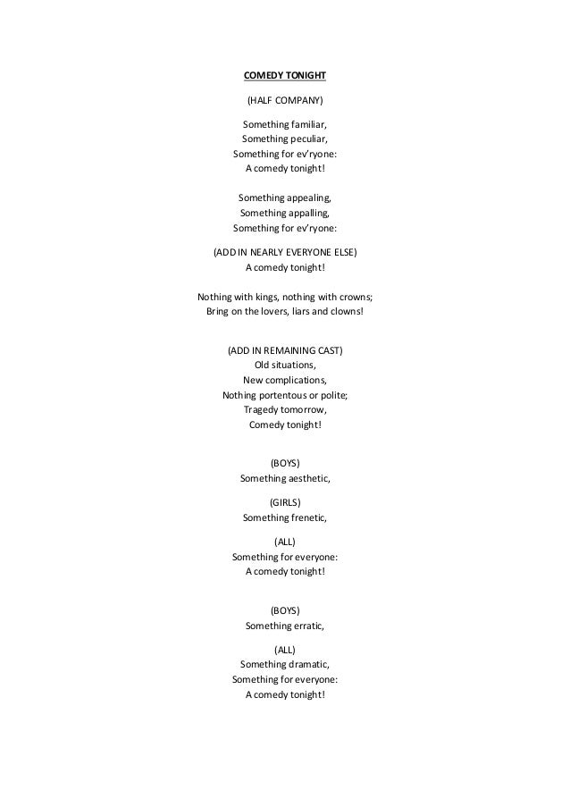 Sondheim Lyrics