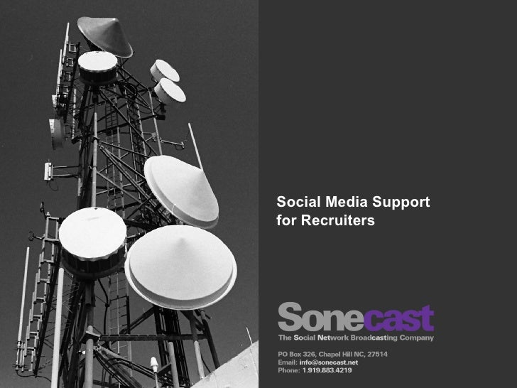 Social Media Support for Recruiters