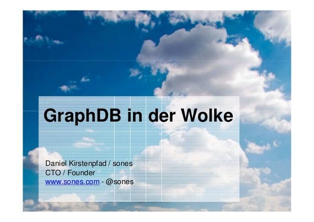 Confidential sones GmbH| 11/30/2010 1 Daniel Kirstenpfad / sones CTO / Founder www.sones.com - @sones GraphDB in der Wolke