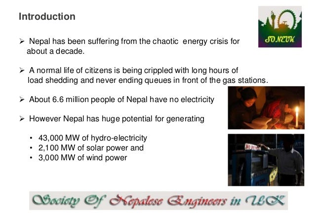 article on energy crisis and its solution in nepal