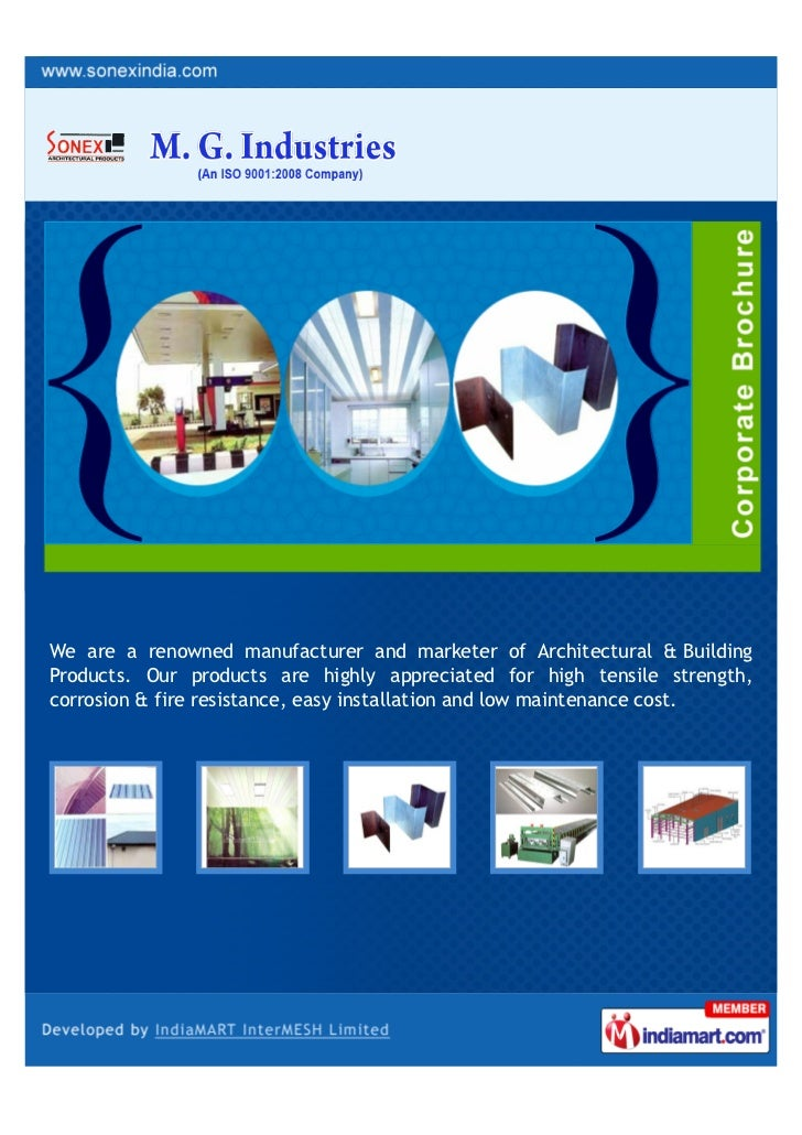 We are a renowned manufacturer and marketer of Architectural & BuildingProducts. Our products are highly appreciated for h...