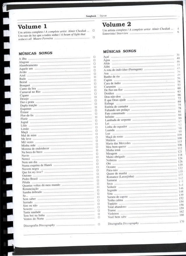 songbook djavan vol 2