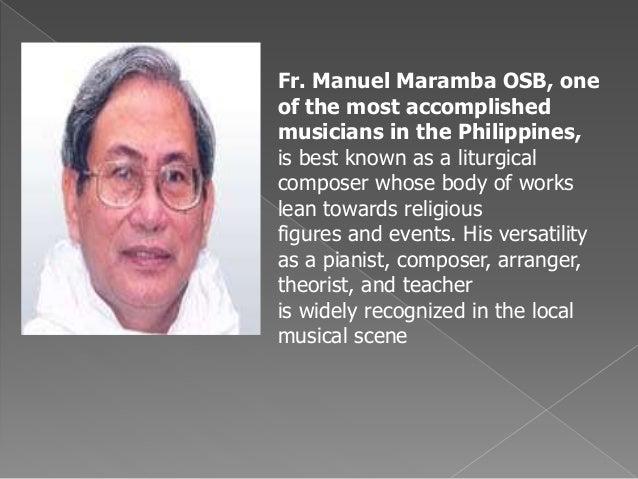fr manuel marimba biography template