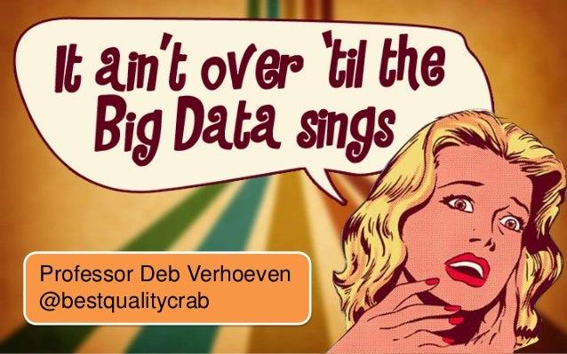 Professor Deb Verhoeven @bestqualitycrab