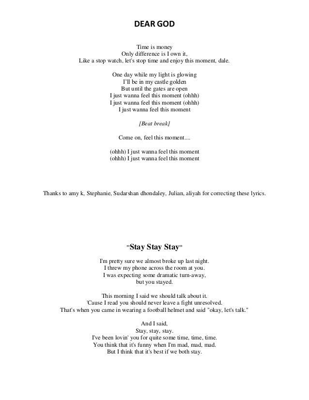 Lyric one day at a time lyrics : Song lyrics
