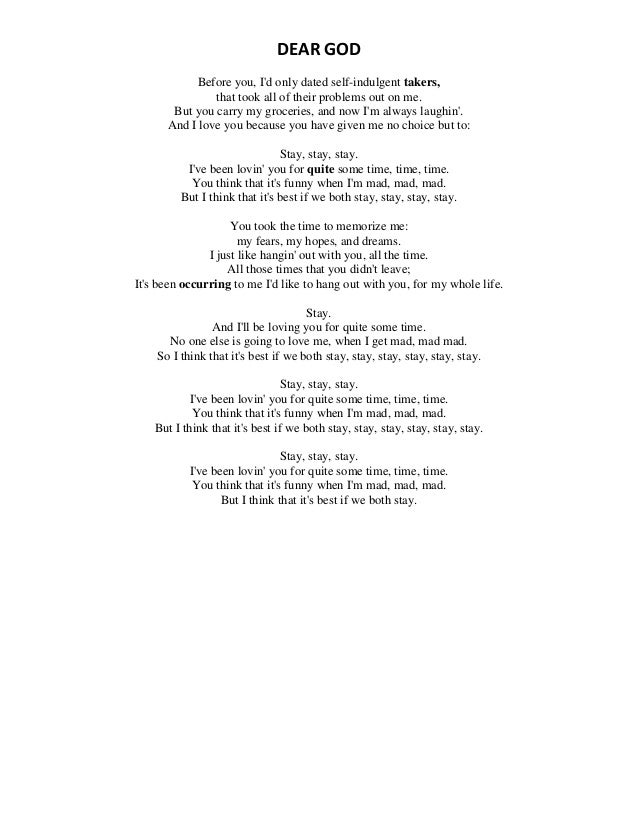 Lyric my god and i lyrics : Song lyrics
