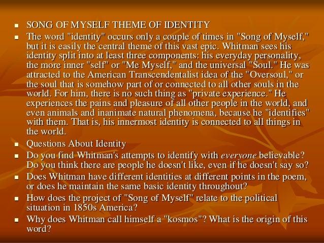 walt whitman from song of myself analysis