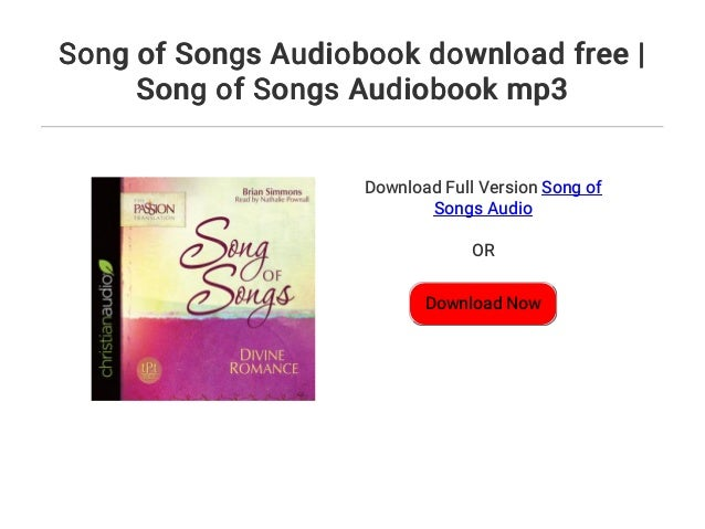 Song of Songs Audiobook mp3
