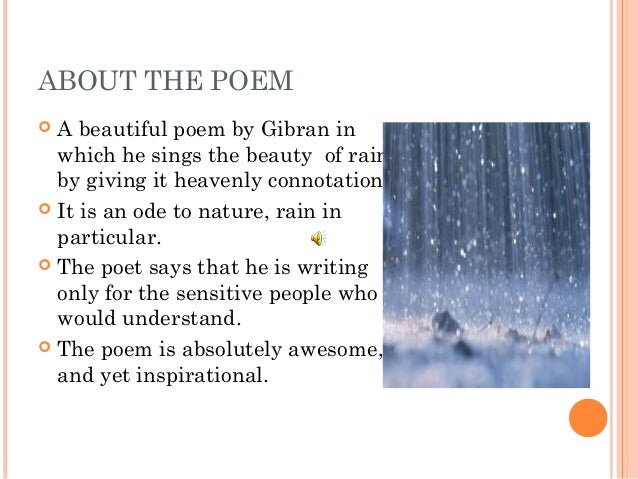 8 Summary Poem Song Of The Rain
