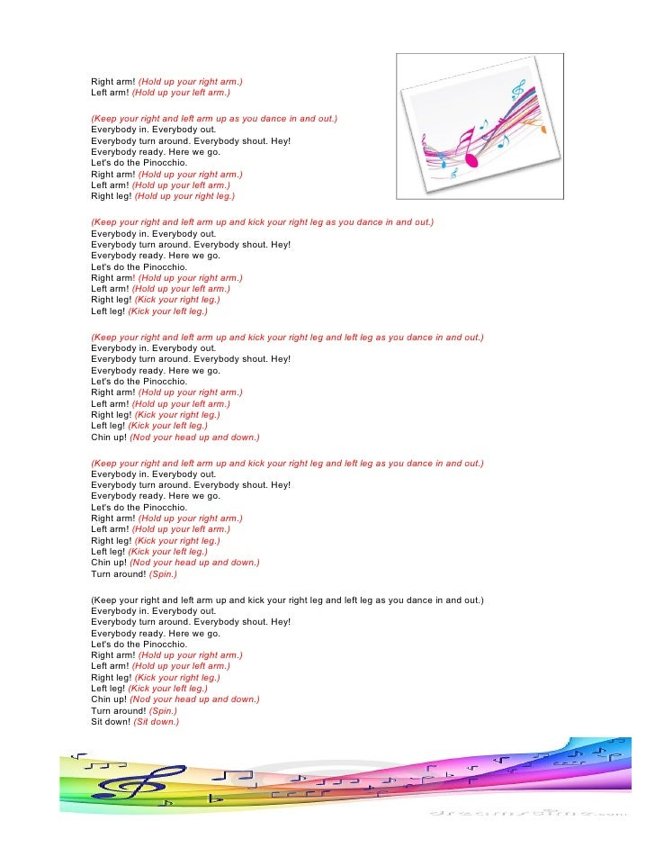Lyric pinocchio lyrics : SONG PINOCCHIO - LYRICS