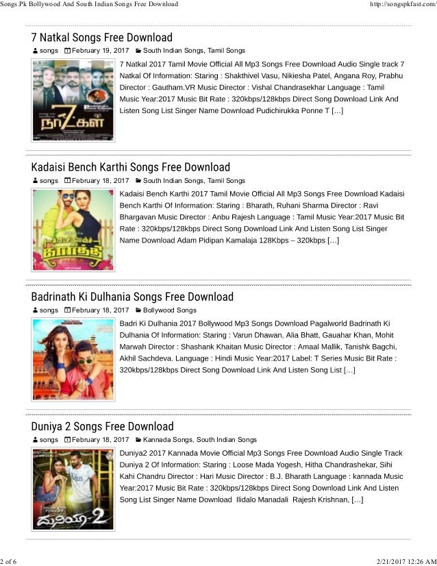 Bollywood Songs Free Download