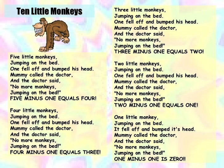 Five Little Monkeys (Jumping on the Bed) – Nursery Rhyme ...