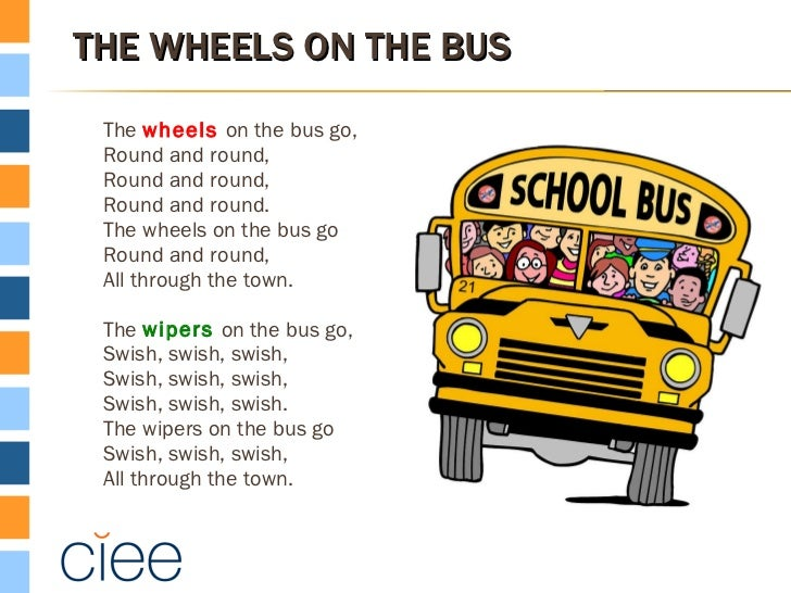 The Wheels On The Bus Go Round And Round The Wheels On The Bus ...