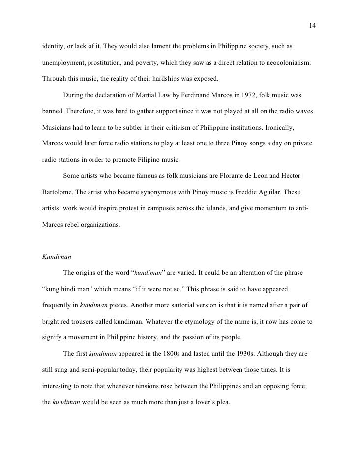 original pinoy music research paper The new anvil guide to research paper writing this allows you to move gradually towards the culminating task of the research paper  original pinoy music.