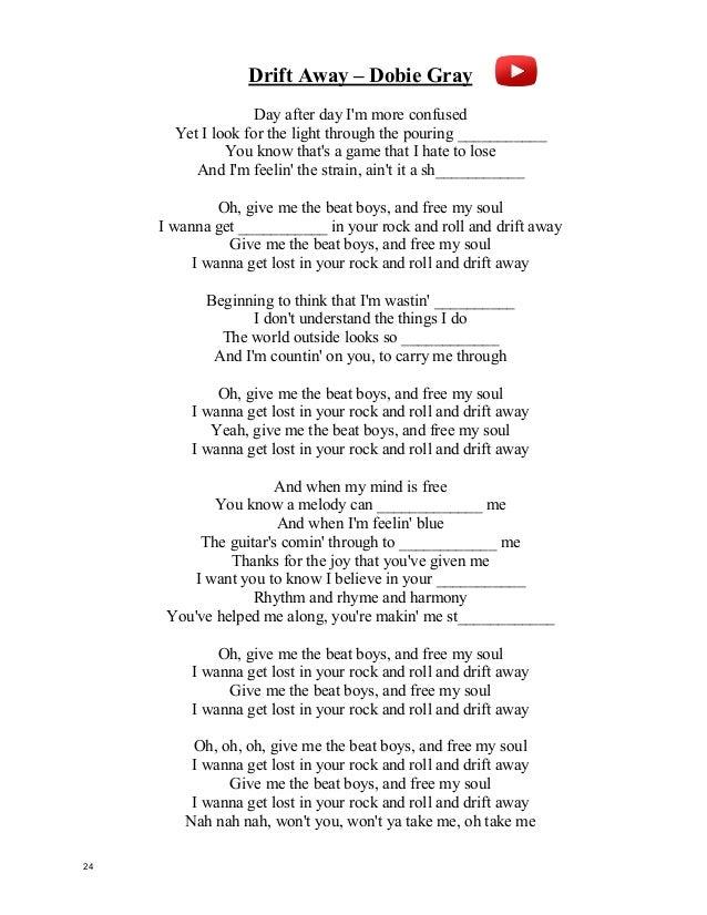 Lyric lyrics drift away : Pop Song / Video book