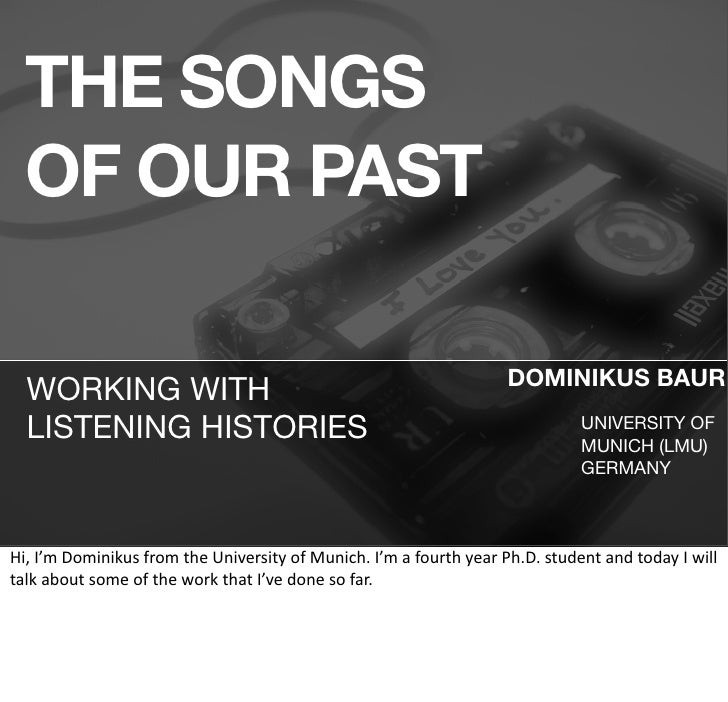 THE SONGS   OF OUR PAST                                                                                                   ...