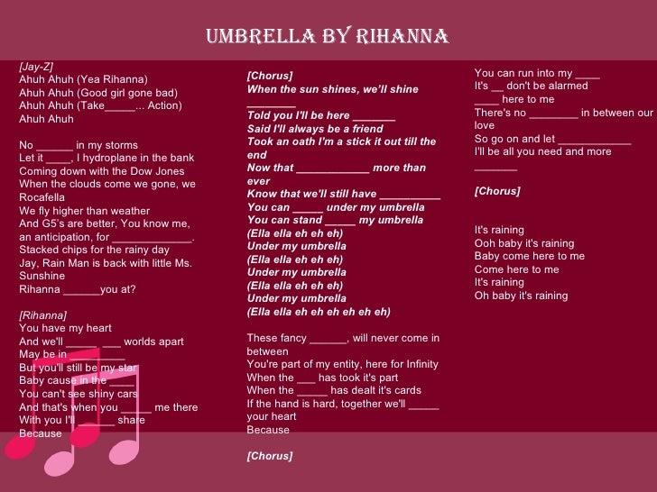 song umbrella esobritish